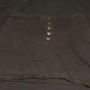 All black button up mini skirt